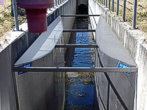 Venturii KPV3 flume while operating